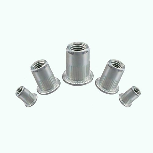 Stainless Steel Knurled Serrated Large Head Rivnuts, Blind Nutserts 10 M10 About Town Bolts LTD