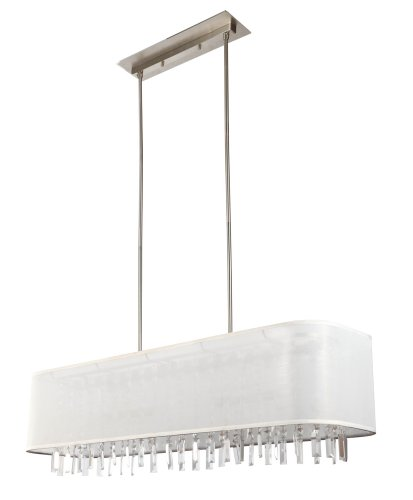 - DVI Lighting DVP4802BN-CHC Track Light with Chocolate Fabric Shades, Buffed Nickel Finish