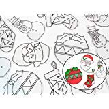 Christmas Kids Suncatcher Kit Variety Pack 24 Count Bulk Ormament Santa Snowman amp Stocking