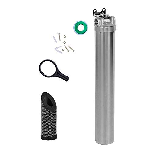 (Hansing Whole House Water Softener System, High Efficiency Water Descaler, Heavy Duty Hard Water Filter - Reduce Scale and Chlorine for Heater, Shower Head, Dishwasher, Kitchen Sink and Laundry)