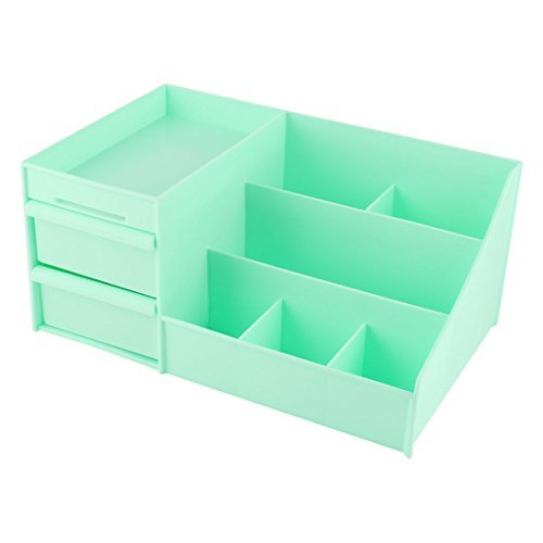 DealMux Plstica Household Cosmetic Maquiagem Sobrancelha Pincel pina Box Titular Organizador Cyan