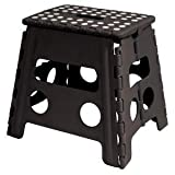 Home-it Folding Step Stool Children and for Adults 13 In. White Holds up to 300 LBS