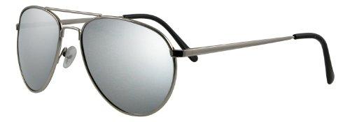 UV3+ Silver Mens Aviator - Uv3 Sunglasses