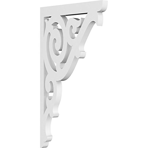 Gingerbread Brackets Victorian (Ekena Millwork BKTP01X07X12AT Pvc Bracket, 5/8