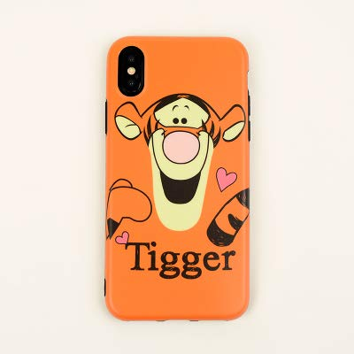 huge selection of d80b4 38f76 Ultra Slim Fit Soft TPU Orange Tigger Case for iPhone X XS Shockproof Shock  Proof Comfortable Smooth Disney Cartoon Stylish Cute Lovely Cool Girls ...