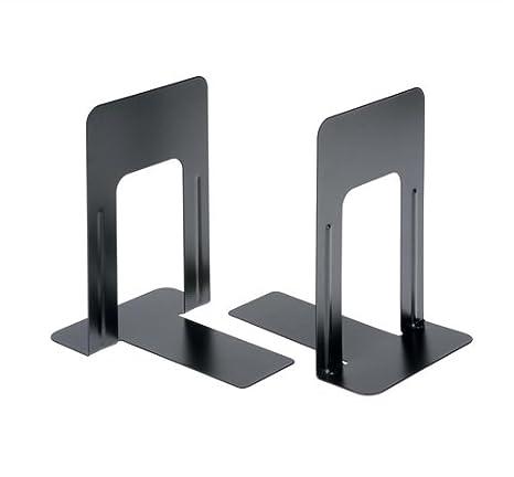 5 star Office Book Ends - Paquete de 2 sujetalibros de metal (178 mm), negro: Amazon.es: Oficina y papelería