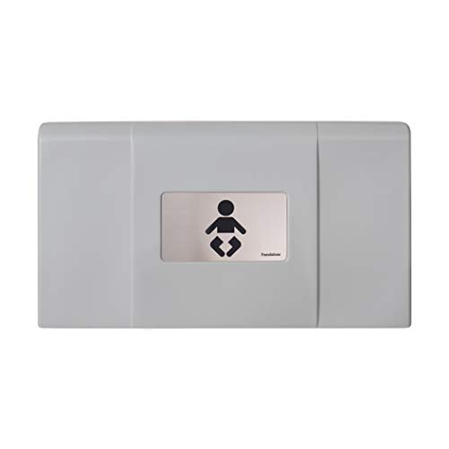 Foundations Ultra 200-EH Horizontal Wall-Mounted Baby Changing Station, Gray/Stainless