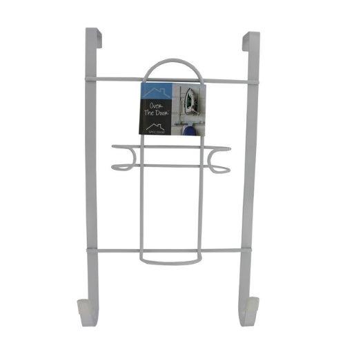 Door Ironing Board Holder - Spectrum Diversified Over-the-Door Iron and Ironing Board Holder, White