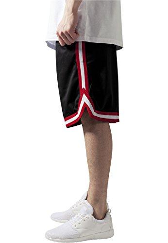 Stripes Mesh Shorts blkredwht M