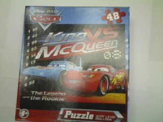 Disney Pixar Cars 48-Piece Jigsaw Puzzle (King Vs McQueen) by - Mcqueen King Vs