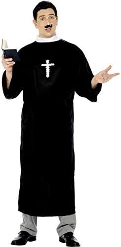 Biblia treuer Sacerdote Disfraz Párroco Negro: Amazon.es: Juguetes y juegos
