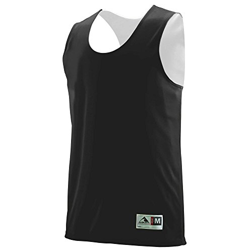 (Augusta Sportswear MEN'S REVERSIBLE WICKING TANK XL Black/White)