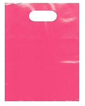 889 디스플레이 미국 INC-50 수량 밝은 핑크 20X20 패치 핸들 플라스틱 토트 백-상품 | 상점 공급 | GORCERY | 의류