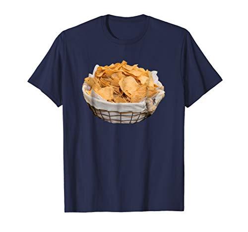Mens Tortilla Chips Costume T-Shirt Crunchy Corn Chips Snack 2XL Navy -