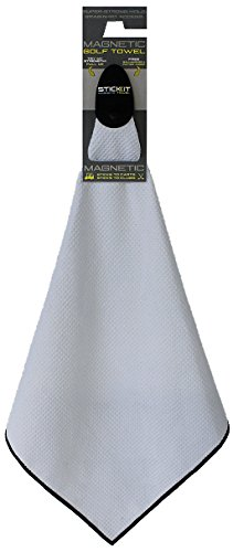 Stick It Magnetic Golf Towel - White by Monument Golf