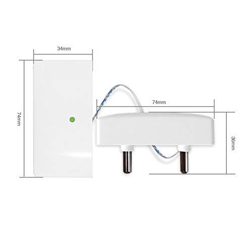 TOOGOO Detector Sensor Inal/ámbrico de Fugas de Agua de Seguridad Sensor de Inundaci/ón de Agua 433 Mhz Detector de Fugas Para El Panel de Alarma G90B