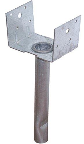 USP Structural Connectors EBG44-TZ G185-Triple Zinc Galvanized 4 by 4 Elevated Post