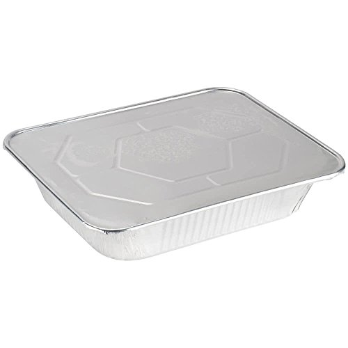 Best Choice Disposable Aluminum pans with lids (10 pack) - 9x13 pans with lids, Half size deep. 12.75