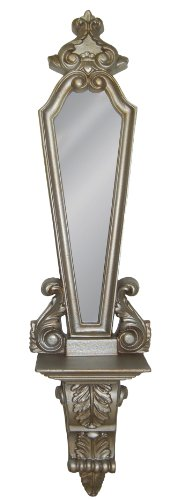 Hickory Manor House Shelf Mirror, Gilt Silver (Silver Gilt Mirror)