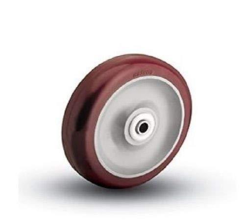 "Colson 3-1/2"" x 1-1/4"" Polyurethane Wheel with 3/8"" ID [2-3-91] Maroon"