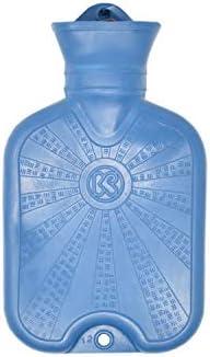 Klassische Wärmflasche aus Naturkautschuk - Bettflasche mit Schraubverschluss - Für Wärmetherapie und Wellness...