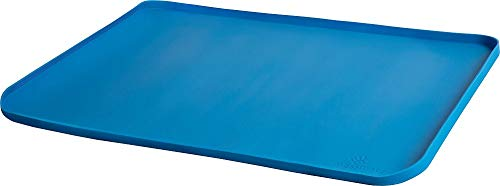 (PlaSmart Messmatz Silicone Mat for Crafts, Snacks, Playtime (24 x 18) (Blue))