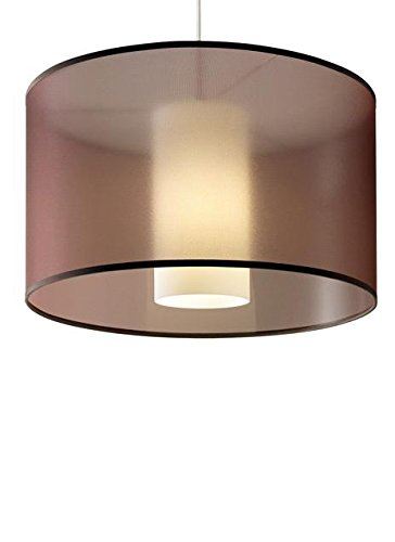 Tech Lighting 700TDDLNPWNW-PSUNV Dillon - Two Light Line-Voltage Pendant, White Finish with Brown Glass