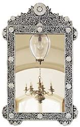 Wisteria Inlaid Mother-of-Pearl Flower Mirror