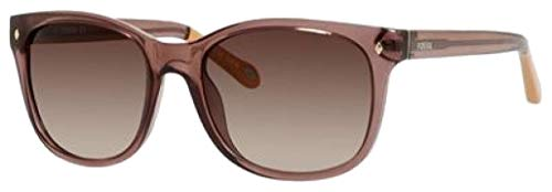 Fossil Ladies Cat Eye Sunglasses FOS3006 (Transparet Brown, Brown)