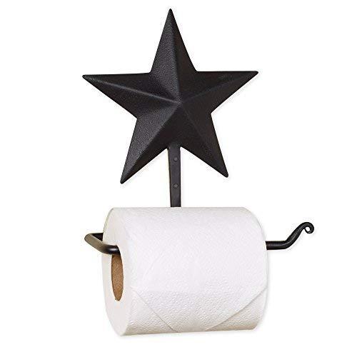 - Black Barn Star 7 x 8 Inch Metal Toilet Paper Roll Holder