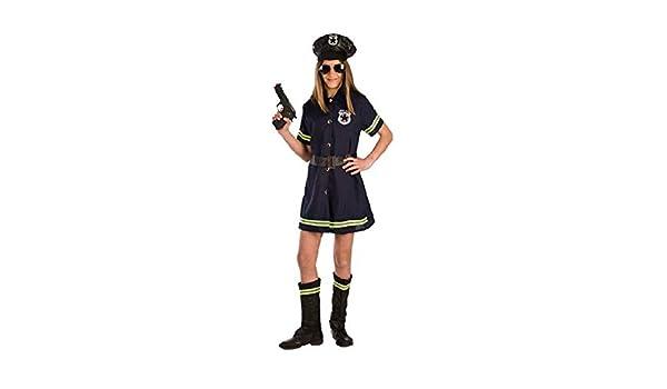 Disfraz de Policía Local para niña P2-(6/7 años): Amazon.es ...