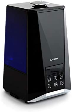 Klarstein VapoAir Onyx Humidificador - Ionizador Adicional , Difusor de Aroma , 350 ML/h , Depósito de 5,5 litros , LED , Temporizador , Autoapagado , ...