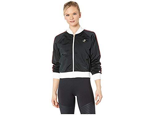Champion LIFE Women's Track Jacket, Black/White/red Spark S Black Track Down T-shirt