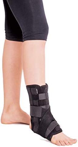 Tobillera con 5 refuerzos; para el tobillo de la pierna izquierda o derecha Large Negro