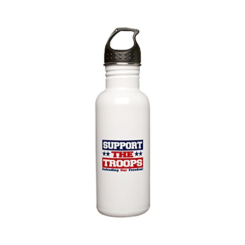 Stainless Water Bottle 0.6L Support the Troops and Our Freedom by Royal Lion