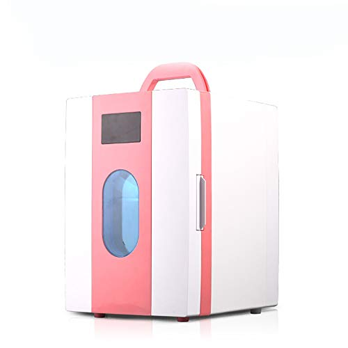 - Mini Car Refrigerator - Portable Drinks Cooler Warmer with 10 Litre Capacity - for Outdoor, Travel, Home, Hotel, Bar - Low Energy A+, Pink
