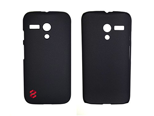 FEELGUD8 Motorola Moto G Protection Matte Slim Fit Case Cover Hard Shell with FREE Smartphone Insurance and Screen Protector (Black) (Motorola Shells Moto E)