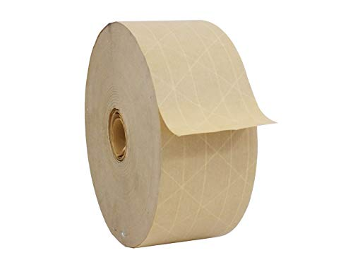 WOD WAT-WAE Commercial Quality Fiberglass Reinforced Water Activated Gummed Kraft Paper Tape (Available in Multiple Sizes) – Ideal for Packing, Shipping, Sealing: 2.75 in. x 450 ft. (Pack of 1) from WOD Tape