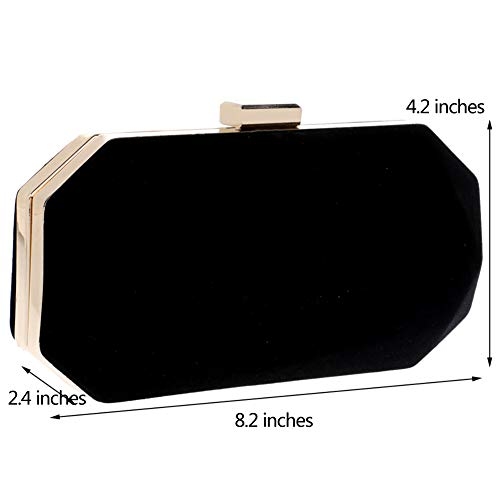 Purse Black For Handbag Dress Womens Wedding Bags Chain Clutch Evening fwdxHqfzP