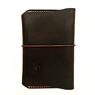Leather Passport Holder for Men & Women - Genuines Wallet Case for 1 or 2 Passports free shipping