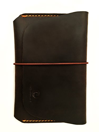 Leather Passport Holder for Men & Women - Genuines Wallet Case for 1 or 2 Passports (Vintage brown)
