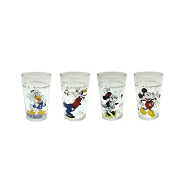 Disney Mickey and Friends Juice Glass, 8-Ounce, Set of 4