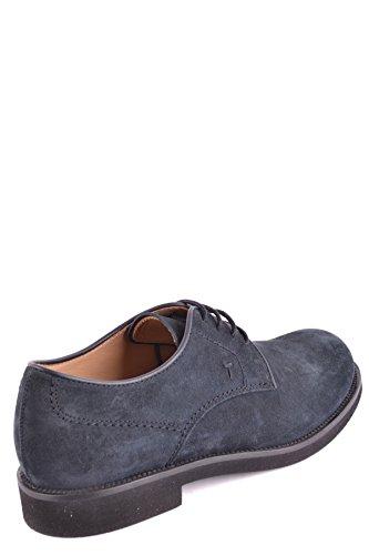 Tods Mens Mcbi293221o Scarpe Stringate In Camoscio Blu
