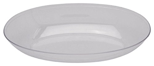 [Creative Converting Form and Function Plastic Oval Bowl, Small, Clear] (Small Oval Bowl)