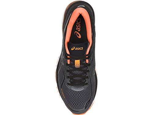 ASICS Mens Gel-Cumulus 19 Running Shoe Carbon/Black/Hot Orange 6.5 Medium US by ASICS (Image #3)