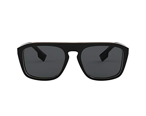 Burberry Men's 0BE4286 Black Multilayer Check/Polarized Grey One Size (Burberry Farbe)