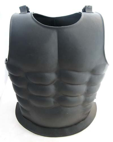 [Spartan Roman Steel Muscle Plate Cuirass Armor Leather] (Spartan 300 Costumes)