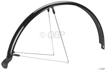 Planet Bike Hardcore Recumbent Bicycle Fender with Stainless Steel Hardware and Mud Flap (Rear, Black, 20-Inch Tires/50mm Wide)