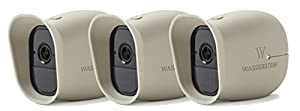 3 x Silicone Skins for Arlo Smart Security - 100% Wire-Free Cameras by Wasserstein … (Arlo Pro, 3 x Beige)