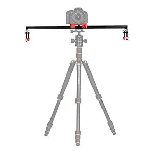 Andoer 60cm / 24 inch All Metal Aluminum Alloy Video Track Slider Dolly Rail Stabilizer Max. Load 6kg for Canon Nikon Sony DSLR Cam Camera Camcoder from Andoer